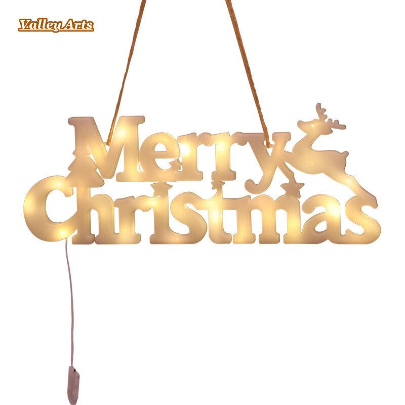 Đèn Chữ Giáng Sinh Vui Vẻ, Lễ Hội Trang Trí Vòng Hoa LED Treo Đèn Ngủ Theo Chủ Đề, Đồ Trang Trí Nhà Tiệc