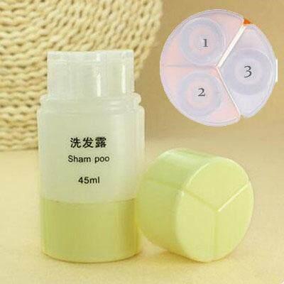 3 In 1 Portable Travel Toiletry Empty Shampoo Body Cream Bottle Container By Kurikkuhouz.