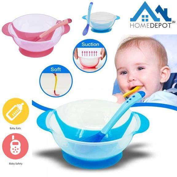 Baby Plates Bowl Bamboo Baby Eating Flatware Set W/ Spoon Blue Kitchenware Bowls & Plates Baby