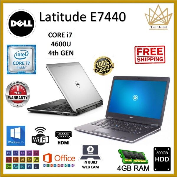 Dell Latitude E7440 CORE i7 4600U (4th GEN) 14 SCREEN / upto 16GB RAM / upto 1TB SSD / WINDOWS 10 PRO / 14 INCHES HD SCREEN / Dell Latitude E7440 / REFURBISHED NOTEBOOK / 1 YEAR WARRANTY Malaysia
