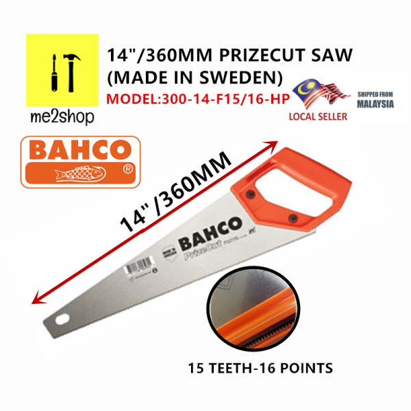 14/360MM BAHCO PRIZE CUT HAND SAW /GENERAL PURPOSE HAND SAW /MULTIPURPOSE HAND SAW (MADE IN SWEDEN)