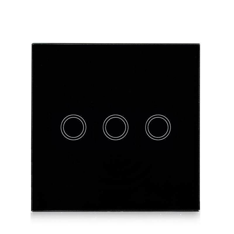 SC Touch Switch with 3 Single Control Channels EU/UK Regulation Models:3 way black