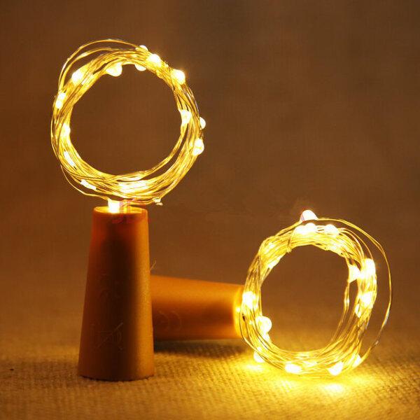 Bảng giá 20 Đèn LED Dây Dây Bạc 1M 2M Nút Chai Vòng Hoa Cổ Tích Vòng Hoa Dành Cho Tiệc Giáng Sinh Ngoài Trời Trang Trí Đám Cưới Năm Mới