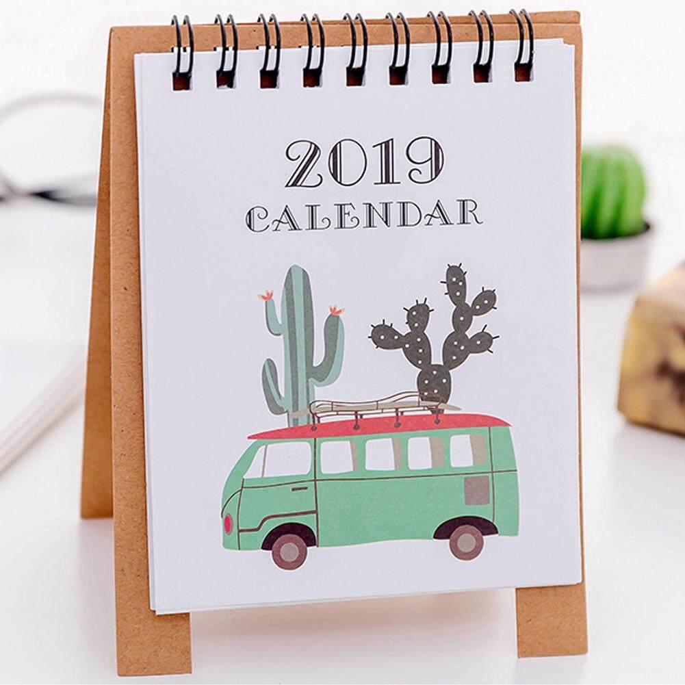 2019 Kalender Berdiri Perencana Meja Kartun Daftar Kegiatan Jadwal Bulanan Desktop Agenda Organizer