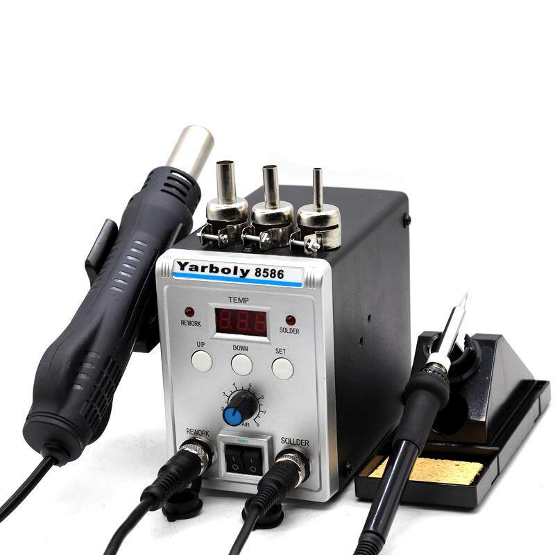 8586 SMD 700W BGA Rework Solder Station Hot Air Blower Heat  Air Welding Soldering Iron Repair Tool