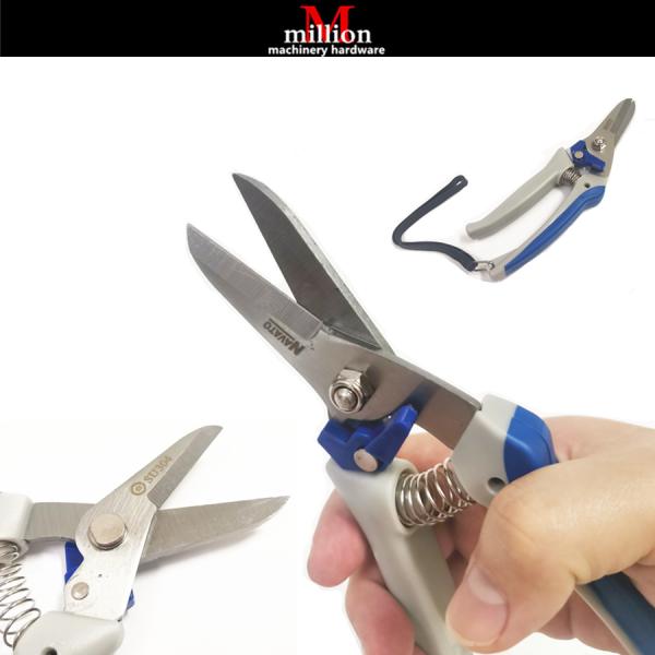 millionhardware - Stainless Steel Pruning Shears Expert All Purposes Gardening Carbon Steel Scissor Cutter Tool Aviation Snips Thin Metal Snip Scissor Gunting Pokok Bunga