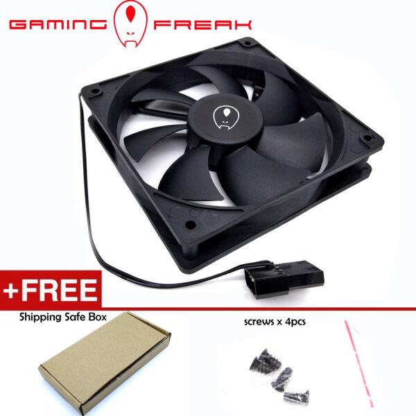 Official AVF Gaming Freak Size 12CM -1200RMP Speed - DC12v 0.15A Model: GF-12FAN-BK Connector 4 Pin Molex For PC Desktop Malaysia