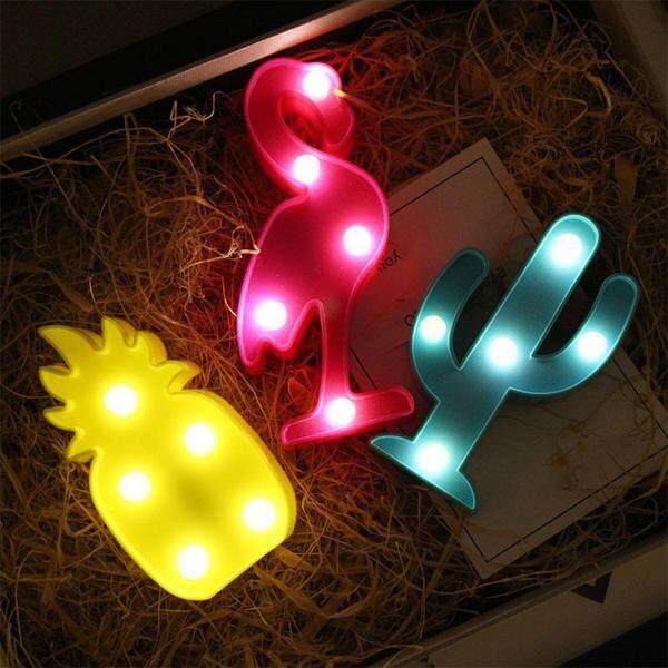 Bảng giá Đèn Ngủ LED Cho Trẻ Em Flamingo Led Đèn Mặt Dây Dẫn Ánh Sáng Đèn Tường Hình Ngôi Sao Xương Rồng Dứa Trang Trí Chiếu Sáng