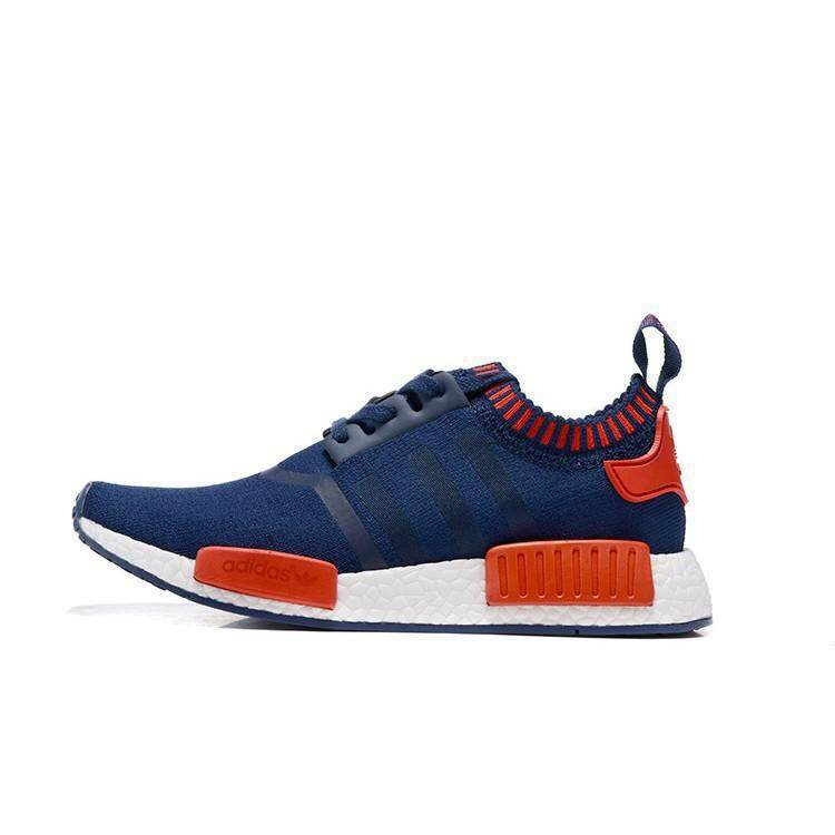 c6651fcf911b2 New Original Adidas NMD men and women casual shoes blue red Running Shoes