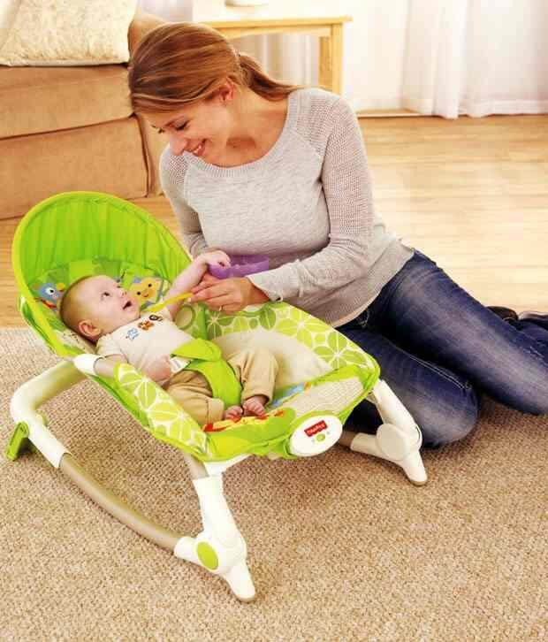 New Green Monkey Baby Kids Children Infant-to-Toddler Play Toys Vibration Swing Rocker Bouncer Chair Seat