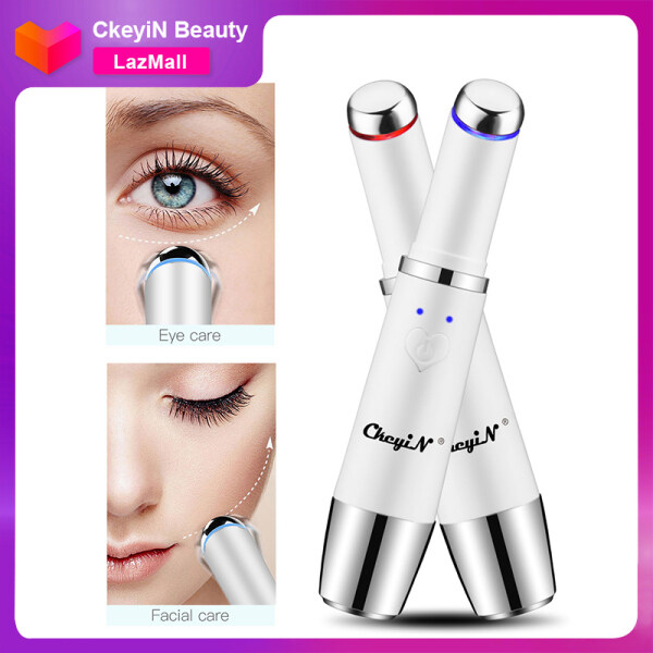 Buy CkeyiN Electric Eye Massager, 42℃ Heat Vibrate Facial Massage Wand for Dark Circles, Puffiness, Eye Fatigue and Anti-wrinkle, Rechargeable Singapore