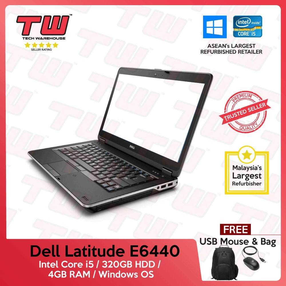 Dell Latitude E6440 Core i5 4th Generation / 4GB RAM / 320GB HDD / Windows OS Laptop / 3 Month Warranty (Factory Refurbished) Malaysia