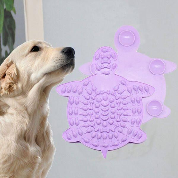 MILESPE Tấm Lót Bát Ăn Thức Ăn Cho Người Huấn Luyện Ăn Tấm Lót Liếm Chó Mút Đồ Cho Thú Cưng Ăn Chậm Đĩa Thức Ăn Chậm