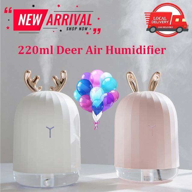 Cute Deer Rabbit Nano Atomized Humidifier Night Light Usb Charging Aromatherapy Essential Oil Diffuser Mist Maker Air Purifier Gift By Peedimall.