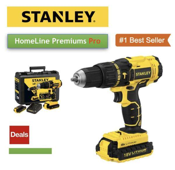 STANLEY SCH20C2K 18V 1.3 AH HAMMER DRILL DRIVER,  2 BATTERY + 1 CHARGER + KITBOX