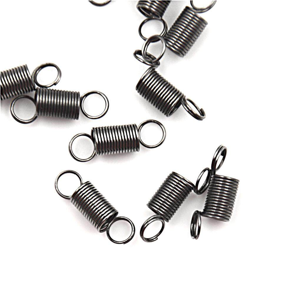 10PCS 15mm Stainless Steel small Tension Spring With Hook For Tensile DIY Toy