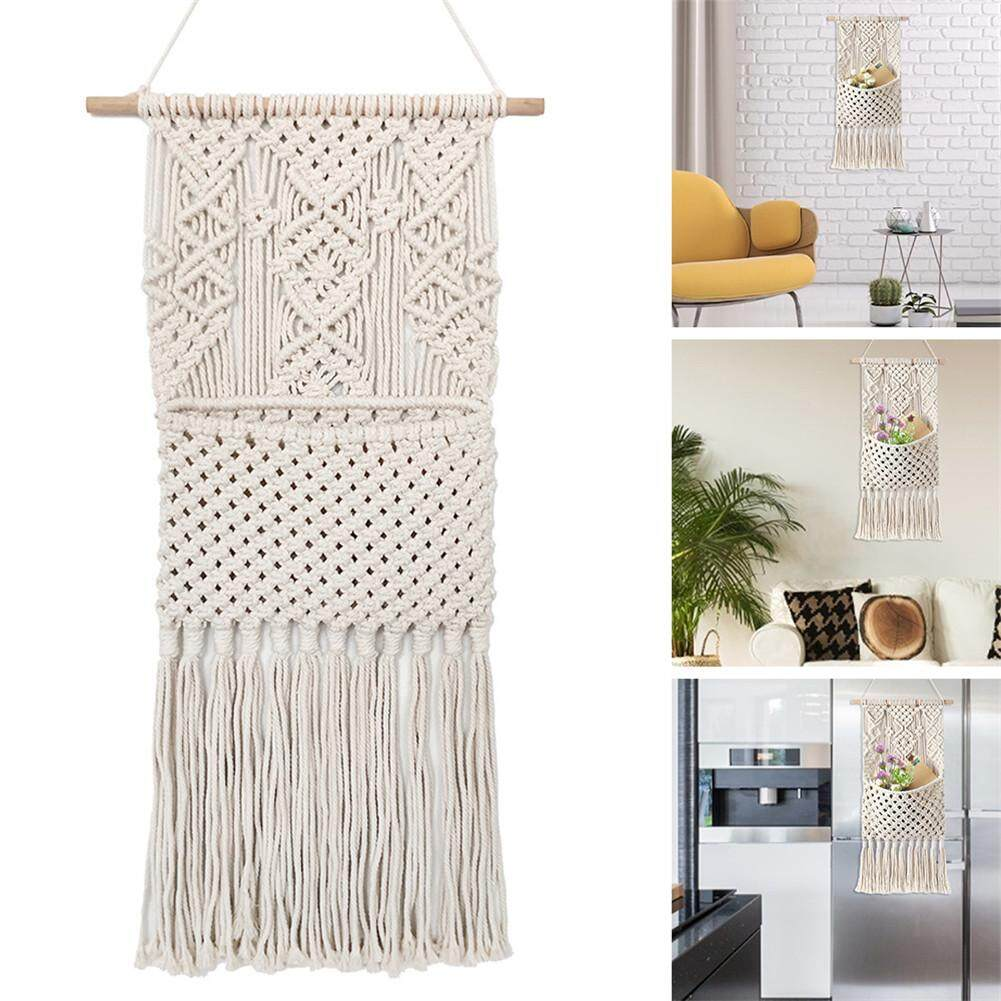 Nordic Simple Tassel Tapestry Hand-woven Bohemian Hanging Carpet Home Ornament Wedding Background Decoration