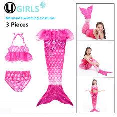 Bộ áo bơi 2 mảnh kèm theo đuôi tiên cá dành cho bé gái màu hồng UGIRLS (vui lòng chọn kích thước phù hợp) – INTL