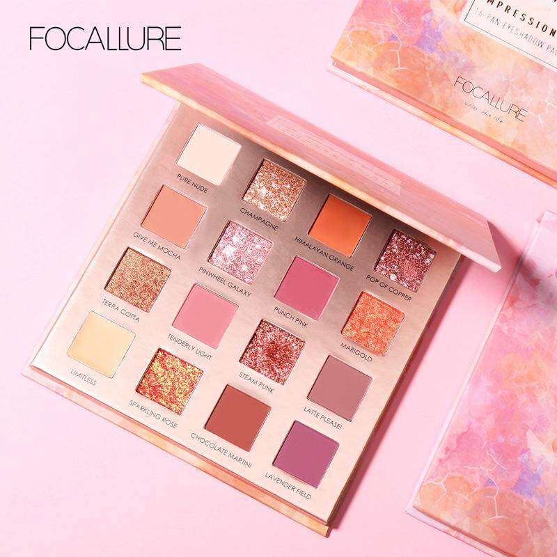 New Pink Pop 16 Colors Eyeshadow Matte Shimmer Glitter Easy To Wear Eye Shadow Palette Long-lasting Eye Shadow Highly Pigmented Eye Shadow