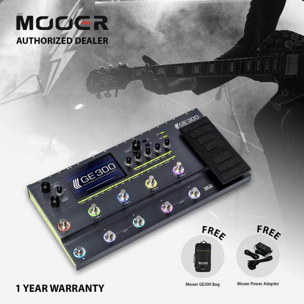 Mooer GE300 Amp Modelling - Synth - Guitar Multi Effects Pedal + GE300 Bag + Power Adapter Malaysia