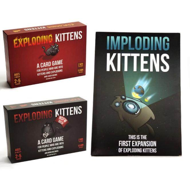Exploding Kittens Card Board Party Friends Family Gathering Red Black Imploding Kittens Game Nsfw Children Toys By Kuro Mart.