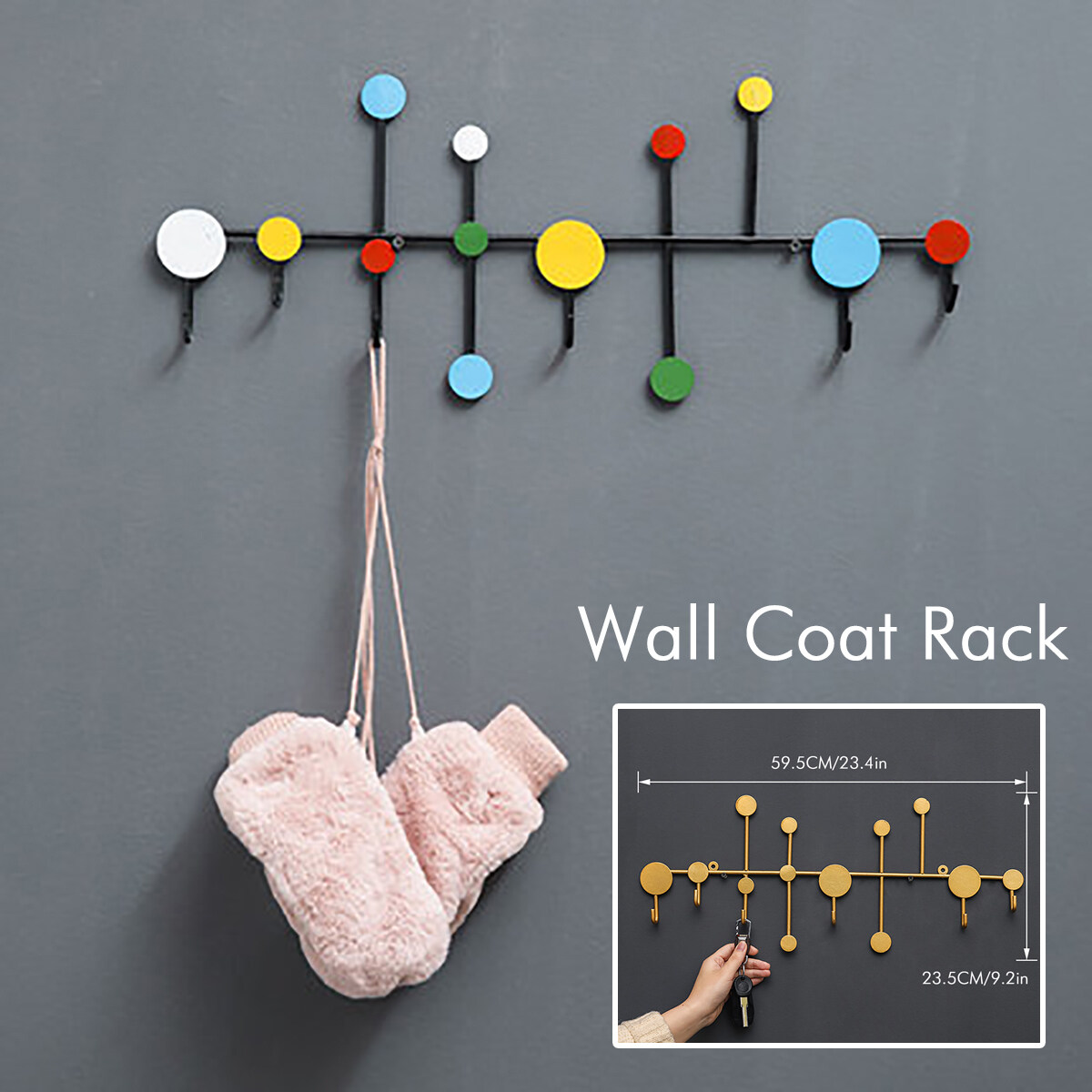 Nordic Creative Coat Hangers Rack Hat Clothes Hook Wall Coat Rack Home Decor