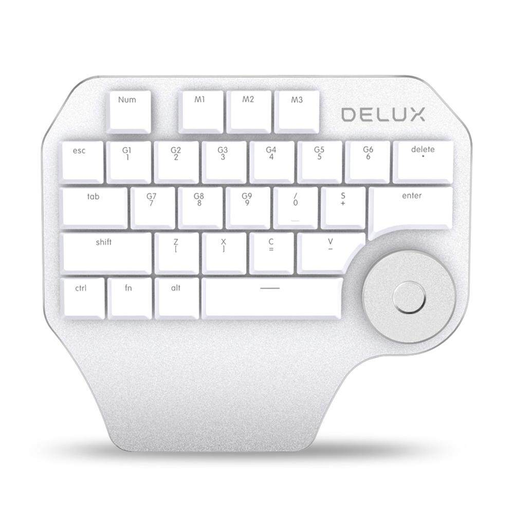 Delux T11 Wired Designer Keypad 28 Keys Keyboard with Smart Knob Malaysia