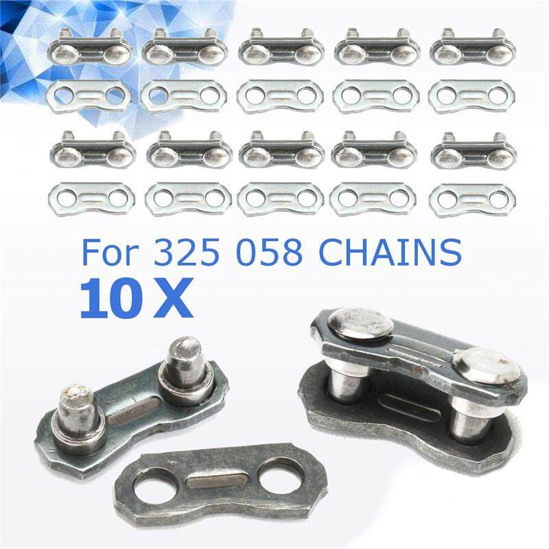 10 Pcs Stainless Steel Chainsaw Chain Joiner Link for Joinning 325 058 Chains