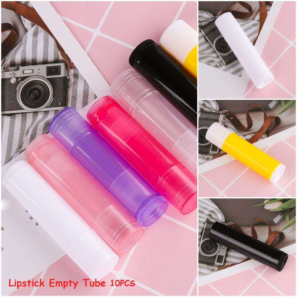 10PCS Portable DIY Empty Makeup Tools Travel bottle Lip Balm Lipstick Tube Cosmetic Containers