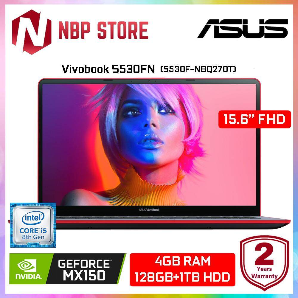 Asus Vivobook S530F-NBQ270T 15.6  FHD Laptop Star Grey (Red) (i5-8265U, 4GB, 1TB+128GB, MX150 2GB, W10) Malaysia