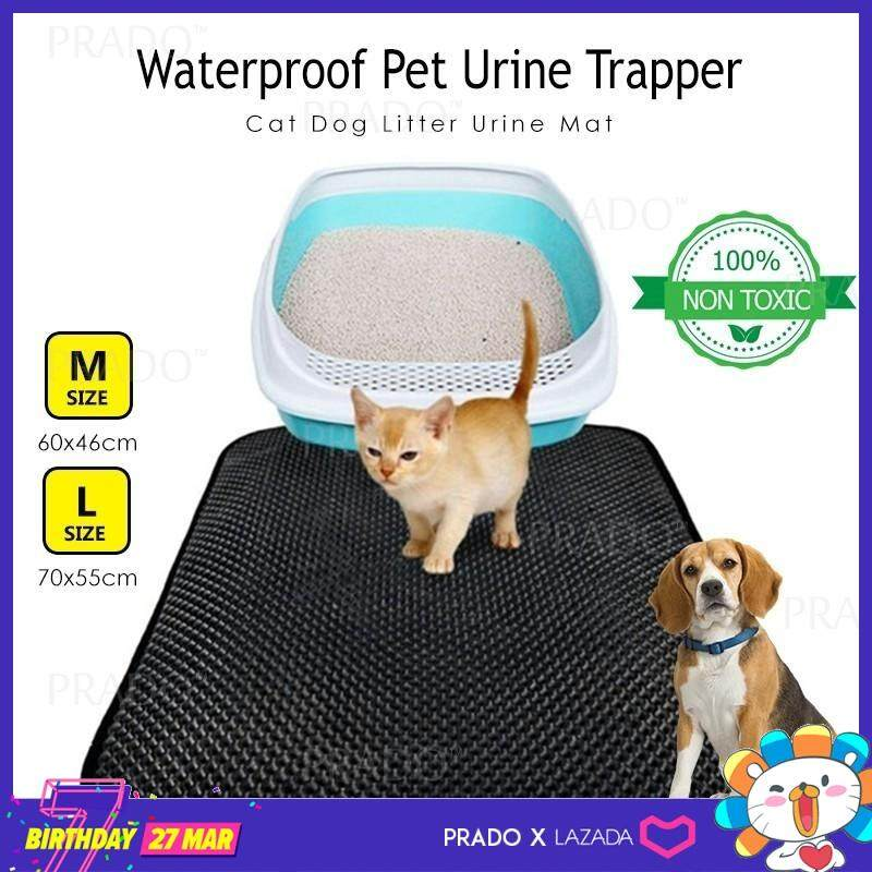Prado 70x55cm Large Waterproof Washable Pet Mat Cat Dog Litter Urine Trapper Folding Pad For House Or Car Seat L Size By Prado.