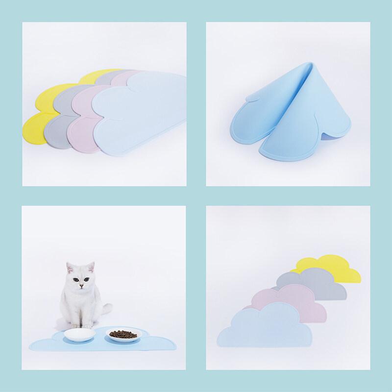 Thời Trang Zeze Thú Cưng Ăn Mat Chó Mèo Bát Pad Silicone Chống Trượt Moistureproof Pad Chống Thấm Nước Để Ngăn Chặn Hạt Trên Mèo Ăn Mat
