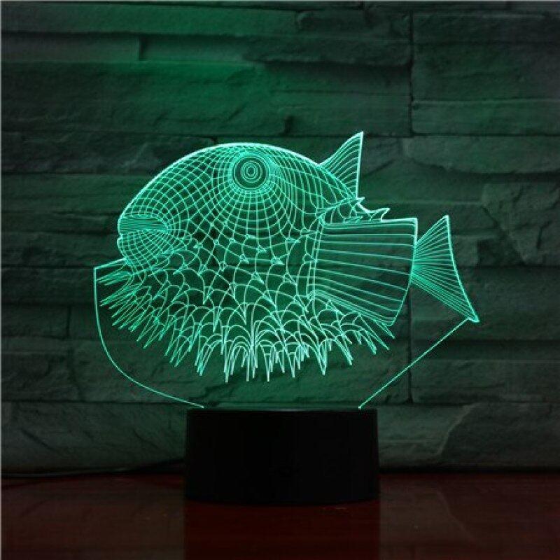 Bảng giá Cá Nóc 3D Đèn Đêm 3D Đèn LED USB Động Vật 7 Đổi Màu Bàn Đèn Bàn Trang Trí Nội Thất Cho Trẻ Em Món Quà Của Bạn 1457 Phong Vũ