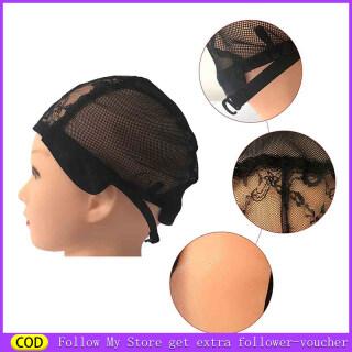 Ban Đầu 1 2 5 Pcs Mũ Trùm Tóc Giả Lưới Ren Với Dây Đai Điều Chỉnh Lưới Co Giãn Mũ Tóc Giả Để Làm Tóc Giả thumbnail