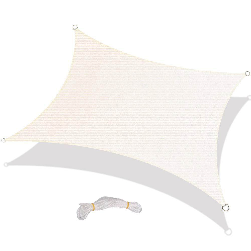 livejoy Rectangle Canopy Sun Shade Sail Water Resistant UV Block Patio Awning for Outdoor Garden
