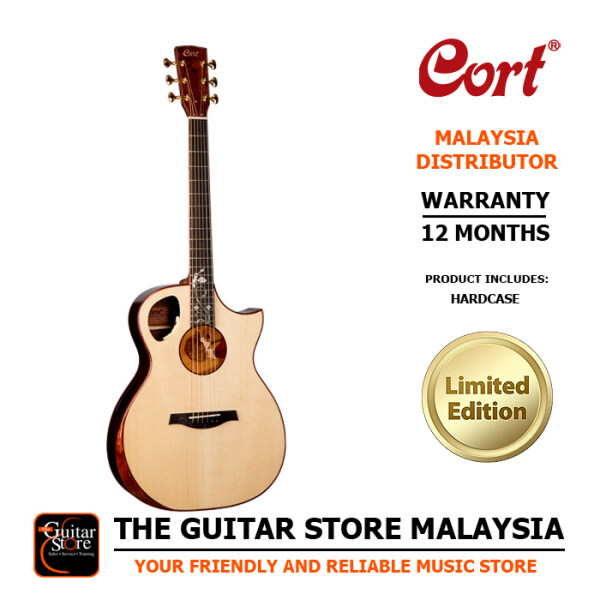 Cort Roselyn LE Limited Edition Premium Full Solid Acoustic Guitar LR Baggs Anthem Preamp Pickup EQ With Hard Case Malaysia