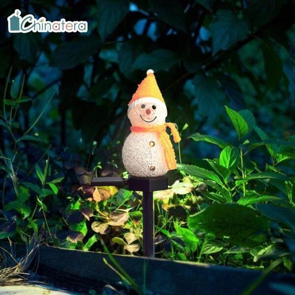 Đèn LED Chinatera Hình Người Tuyết Bằng Năng Lượng Mặt Trời, Đèn Chiếu Bãi Cỏ Sân Vườn Giáng Sinh Trên Mặt Đất, Lối Đi Trong Sân Chiếu Chiếu Sáng Ngoài Trời Gia Đình, Bãi Cỏ Sân Vườn Đồ Trang Trí Bãi Cỏ