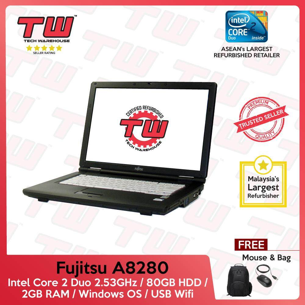 Fujitsu A8280 Core 2 Duo 2.53GHz / 2GB RAM / 80GB HDD / Windows / 3 Months Warranty (Factory Refurbished) Malaysia