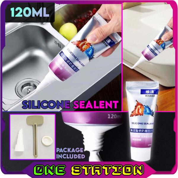 120ML WS868 Silicone Sealant Kitchen Sink Waterproof Anti-Fungal Anti-Darkening Edge Sealing Glue Mouldproof Sealant