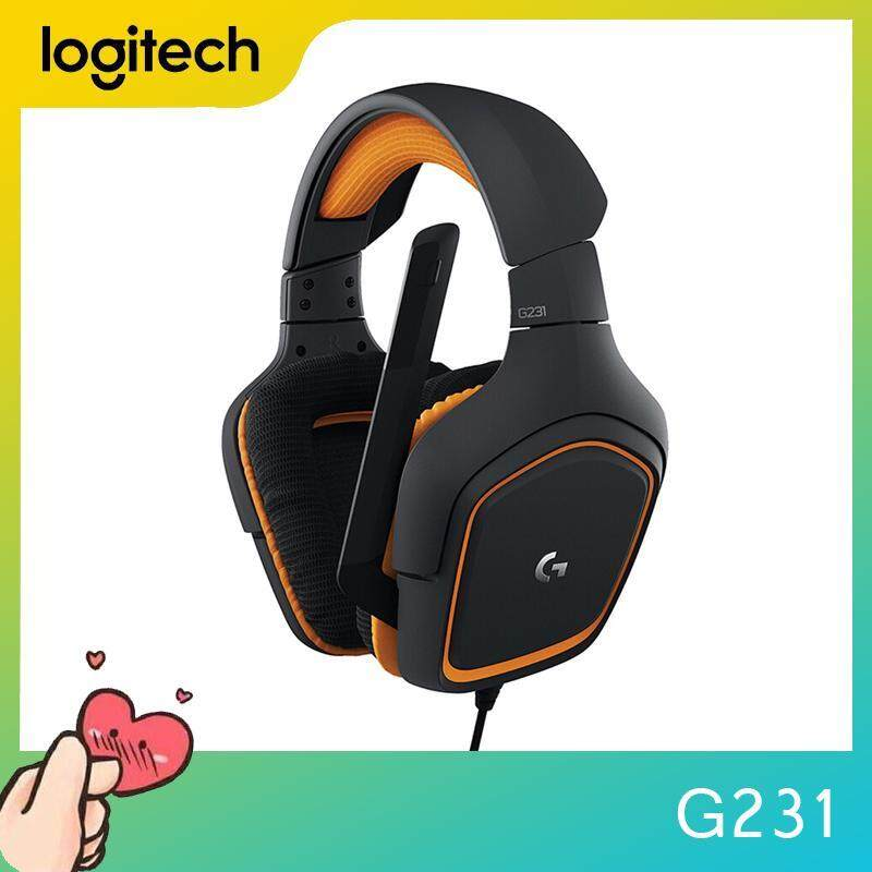 Logitech G231 Prodigy Desktop Gaming Headset Computer Headset Professional 3.5mm Gaming Headset with Foldable Microphone for PC PC PS4 Xbox One NS Laptop Singapore