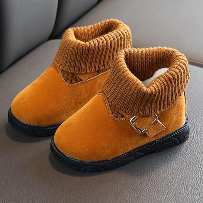 Bốt Liuyehumall Ngắn Giữ Ấm Cho Bé Gái, Giày Cổ Thấp Thường Ngày Cho Trẻ Sơ Sinh Và Mới Biết Đi, Màu Trơn Mùa Đông giá rẻ