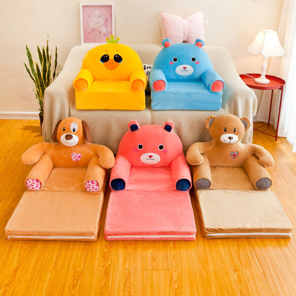 45x50cm Childrens Kids Comfy Soft Chair Toddlers Armchair Seat Bedroom Lounger Sofa Bed