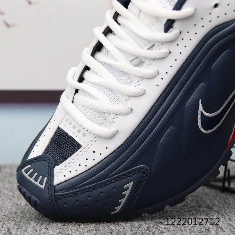 finest selection 1458c 90f36 Fashion Nike Shox R4 OG mens shoes air column spring shoes white blue 40-45    Lazada PH