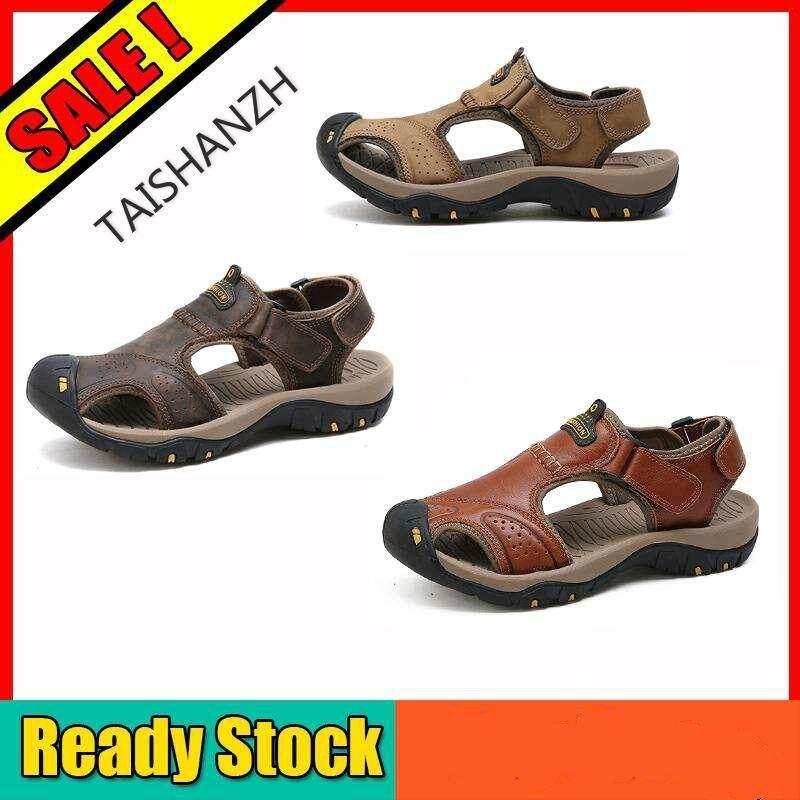 75983ccfef24fe Genuine Leather Beach Sandals Sandals Men Shoes Trekking Sandals Casual  Shoes For Men Beach Shoes Men