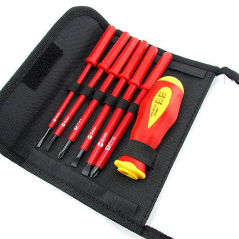 Tool Nest NEW 7pcs Electricians Insulated Electrical Dual Head Hand Screwdriver Tool Set