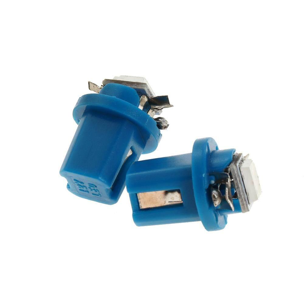 10X T5 B8.5D 5050 1SMD LED Dashboard Dash Gauge Instrument Light Bulb Blue 12V