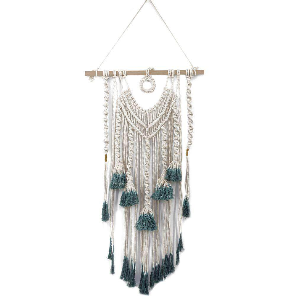 Boho Macrame Hanging Wall Decor Gradient Color Wall Art Rope Cord Woven Tapestry Home Decorations