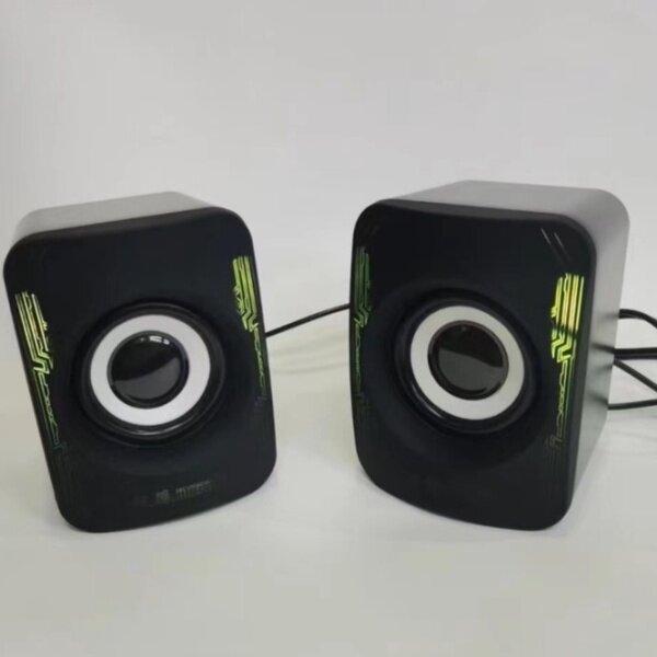 USB Speaker Laptop Desktop Stereo Speaker PC Computer JT Speaker Gaming Speaker with RGB LED Light ICON QUATRO Malaysia