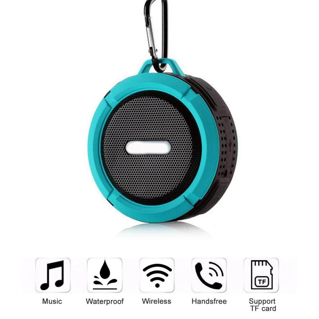 Aolvo Di Động IPX65 Chống Nước Không Dây Ngoài Trời Bass Loa Bluetooth 4.0 Stereo Chống Sốc Hỗ Trợ Thẻ TF