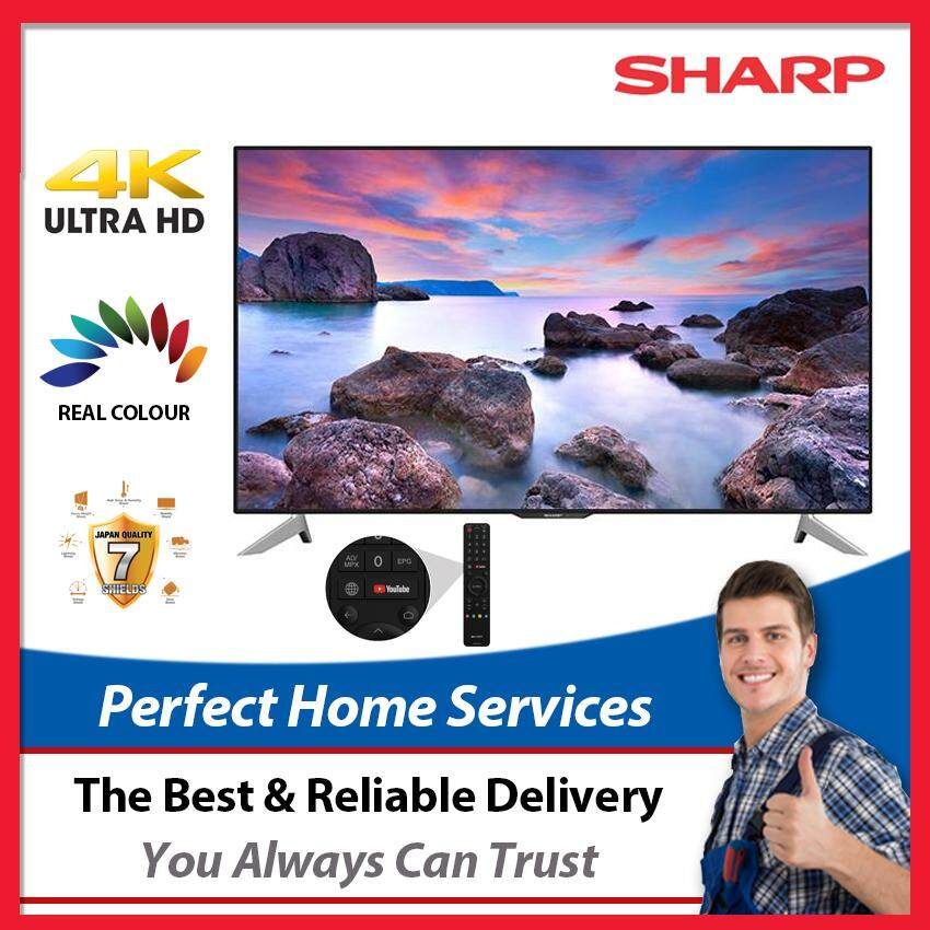 """(Limited Time Offer) Sharp New 60"""" UHD (LC60UA6500X) 4K Easy Smart TV, Express Direct Shipping Within Klang Valley"""